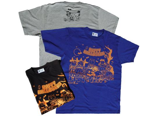 スヌーピータウンショップ オリジナル. HAPPY HALLOWEEN Tシャツ サイズ:M/L/2L カラー:ブラック/グレー/ブルー 各1900円+税ブラック